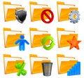 Free Nine Folder Icons & Symbols Royalty Free Stock Photography - 22409707