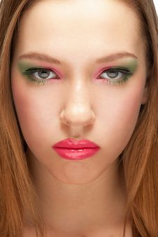 Close-up Of Woman With Make-up Royalty Free Stock Photography