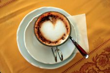 Free Cup Of Cappuccino Royalty Free Stock Images - 22401579