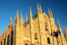 Free Duomo At Sunset, Milan Stock Image - 22401601