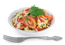 Free Vegetable Salad With A Fork Royalty Free Stock Photography - 22401617