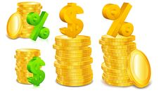 Free Financial Coins Concept Royalty Free Stock Photography - 22402107