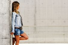 Free Beautiful Young Girl, Model Of Fashion With Casual Stock Images - 22402124