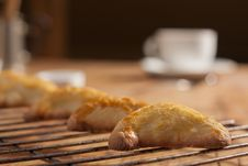 Pasty On A Rack Stock Photos