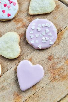 Free Heart-shaped Biscuits Royalty Free Stock Image - 22405146