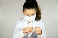 Free Pretty Young Doctor Royalty Free Stock Photos - 22408228