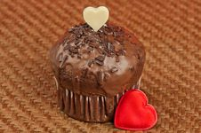 Free Valentine Muffin Stock Image - 22409051