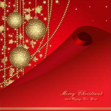 Free Christmas Frame With Balls Royalty Free Stock Photos - 22409118