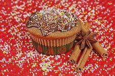 Christmas Muffin Stock Image