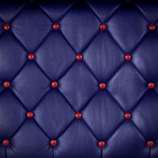 Free Blue Leather With Red Button Stock Images - 22409174