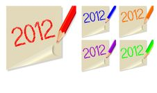 Free Post-it 2012 Royalty Free Stock Photo - 22409765