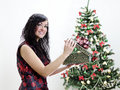 Free Christmas: Brunette Girl With Gift Stock Images - 22418444