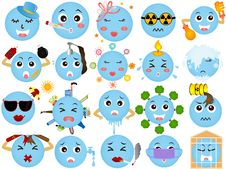 Free Global Warming - Blue Planet Icons Stock Images - 22410244
