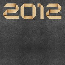 Free Happy New Year 2012  Recycled Paper Craft Royalty Free Stock Image - 22410526