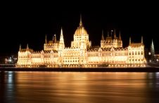 Free Hungarian Parliament At Night Stock Photo - 22412590
