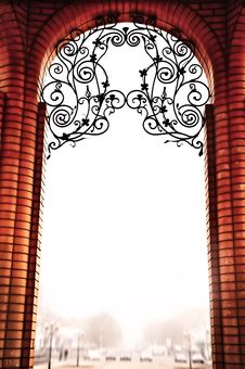 The Brick Arch In Vintage Style Stock Photography