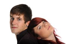 Free Young Couple Portrait Royalty Free Stock Images - 22414069