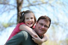 Free Father And Daugther Having Fun Stock Image - 22414171