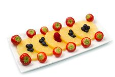 Free Pineapple Slices With Berries Royalty Free Stock Image - 22415456