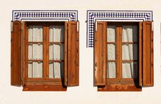Free Windows With Wooden Shutters. Stock Images - 22415554