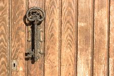 Free The Old Door Handle In The Form Of Key Royalty Free Stock Photo - 22415655