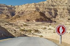 Free Road Sign In Timna Park, Israel Stock Photo - 22416110