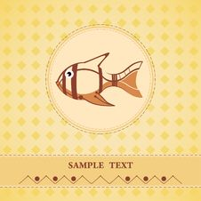 Free Postcard With A Fish Stock Image - 22416911