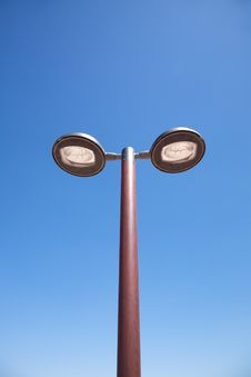 Free Double Modern Streetlamp Royalty Free Stock Photography - 22416997