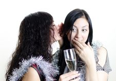 Free Two Girls Gossiping Royalty Free Stock Images - 22418499