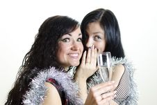 Free Two Girls Gossiping Stock Photography - 22418512
