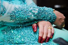 Free Hand Wearing Henna Royalty Free Stock Photos - 22421888