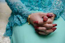 Free Hand Wearing Henna Stock Image - 22421931