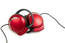 Free Red Stylish Earphone Royalty Free Stock Image - 22422346