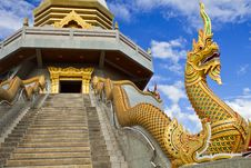Free Serpent Of Thai Temple. Royalty Free Stock Image - 22428766
