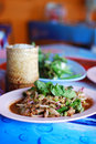 Free Spicy Salad Of Grilled Pork Stock Image - 22433261