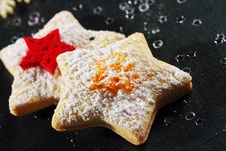 Free Christmas Butter Cookies Royalty Free Stock Photography - 22430157