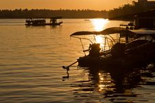 Free Amphawa Floating Market In Evening Stock Photo - 22430750