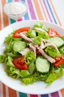 Free Chicken Salad Royalty Free Stock Photography - 22432127