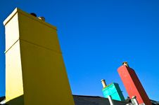 Free Colorful Chimneys Stock Images - 22435104