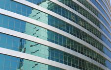 Reflection On Office Building Royalty Free Stock Photos