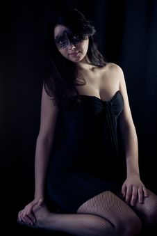 Free Woman In Black Mask Royalty Free Stock Images - 22437349
