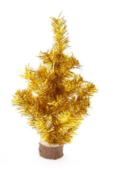 Free Christmas Gold Tree Royalty Free Stock Images - 22437419