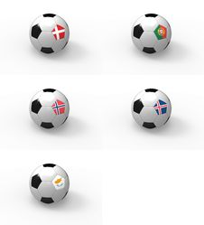 Free Euro 2012, Soccer Ball With Flag - Group H Stock Photo - 22437440