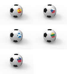Free Euro 2012, Soccer Ball With Flag - Group I Royalty Free Stock Image - 22437446