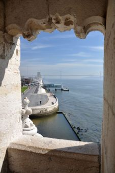 Free Belem Tower View Royalty Free Stock Photo - 22438275