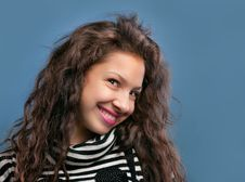 Free Portrait Of Beautiful Smiling Girl Stock Photography - 22438862