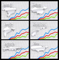 Free 3D Maps With Graphic Chart Stock Photos - 22445663