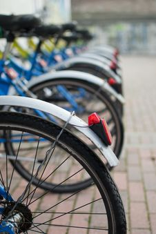 Free Bicycles In Sequence Stock Image - 22440241