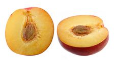 Free Half Of Fresh Nectarine With Seed Royalty Free Stock Photo - 22440545