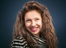 Free Portrait Of Beautiful Smiling Girl Stock Image - 22441931